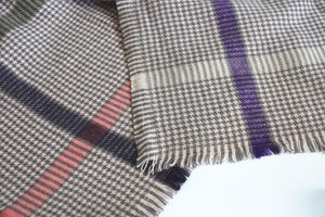 Green Scarf Boutique brown houndstooth print blanket scarf.