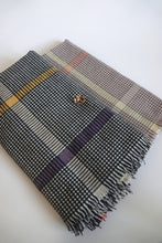 Green Scarf Boutique black and brown houndstooth print blanket scarves