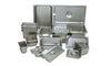 Assorted stainless steel steam table pans