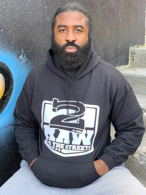 """Classic"" 2 Raw For The Streets Hoodie (Black)"