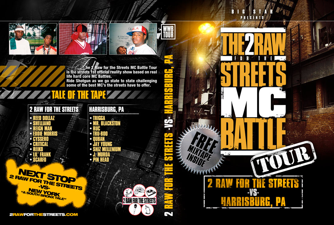 2 Raw For The Streets vs Harrisburg (DIGITAL FILE DOWNLOAD)