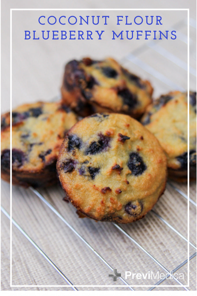 Previ Culinary: Coconut Flour Blueberry Muffins