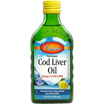 Carlson Labs Cod Liver Oil Lemon 8.4 fl oz (CODL4)