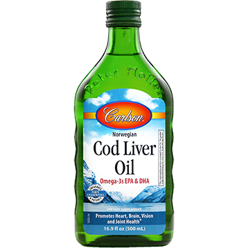 Carlson Labs Cod Liver Oil Regular Flavor 500 ml (CODL7)