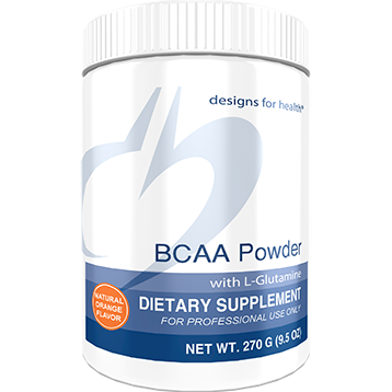 Designs for Health BCAA Powder with L-Glutamine 270 grams (D04344)