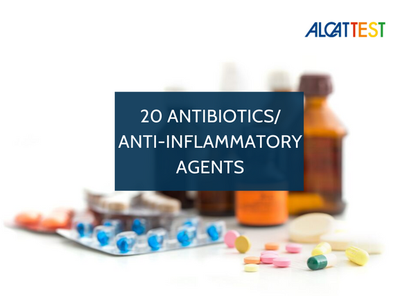 20 Antibiotics & Anti-Inflammatory Agents- Alcat Test Panel