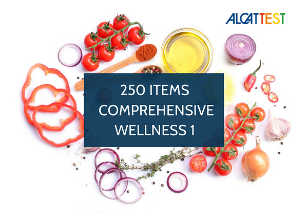 250 Items - Comprehensive Wellness 1 - Alcat Test Panel
