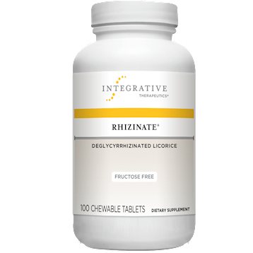 Integrative Therapeutics Rhizinate® DGL FructoseFree 100 chew tabs (RHIZ4)