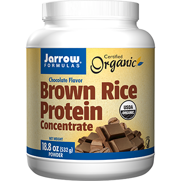Jarrow Formulas Organic Brown Rice Protein Concentrate - Chocolate 18.8 oz (J18074)