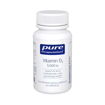Pure Encapsulations Vitamin D3 5000 IU 60 vcaps (VD56)