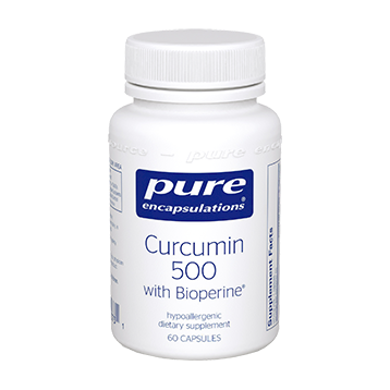 Pure Encapsulations Curcumin 500 with Bioperine 60 vcaps (CUB56)