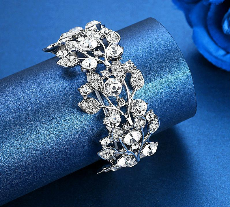 Luxury Crystal Leaf Bracelets