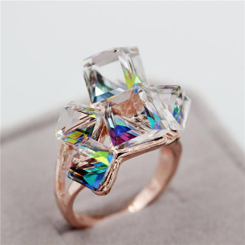 Vintage Style Crystal Cocktail Ring