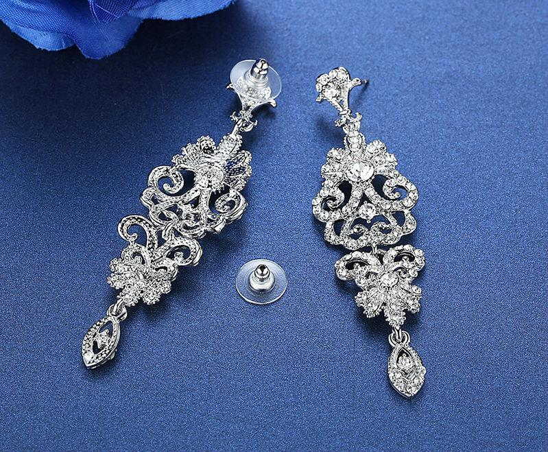 Floral Long Drop Earrings