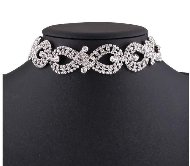 Rhinestone Infinity with Long Chain Choker