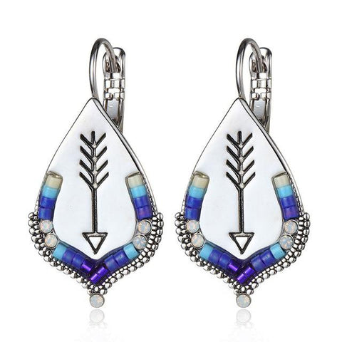 Southwest Inspired Arrow Drop Earrings
