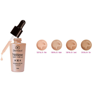Noblesse Fusion Make-up Invisible Foundation SPF 10 Pale No.1 Dermacol San Francisco