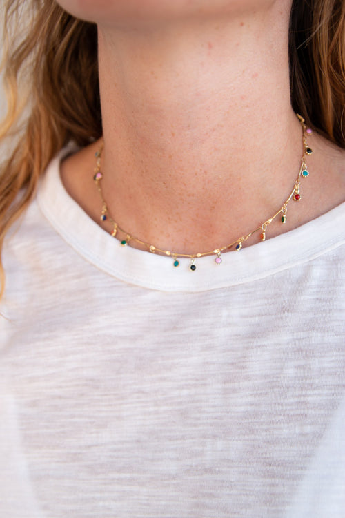Fiesta Choker-Multicolor - Willow House Boutique