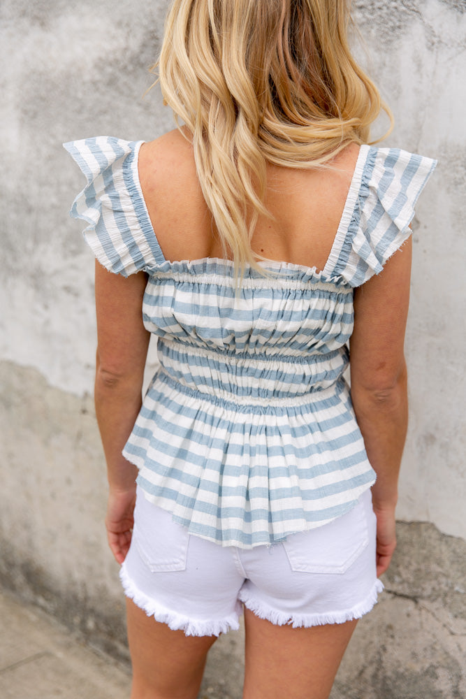 Penny Smocked Ruffle Top