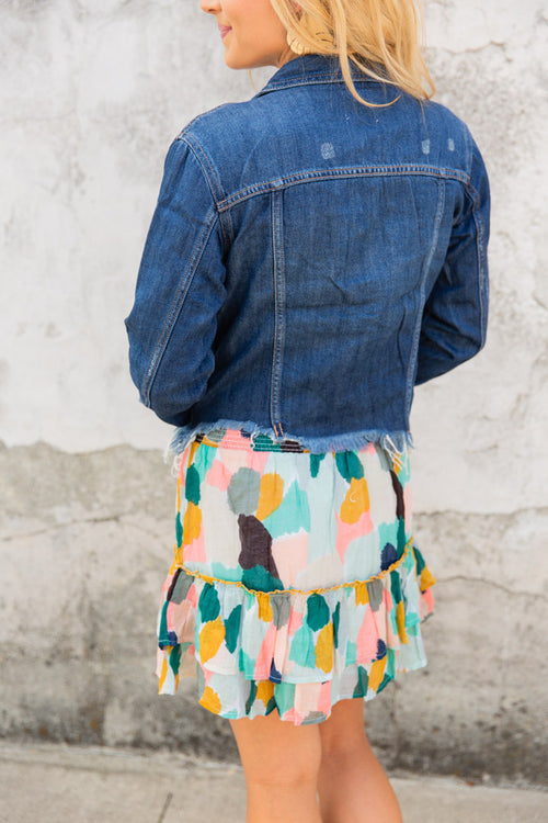 Fray Denim Jacket - Willow House Boutique