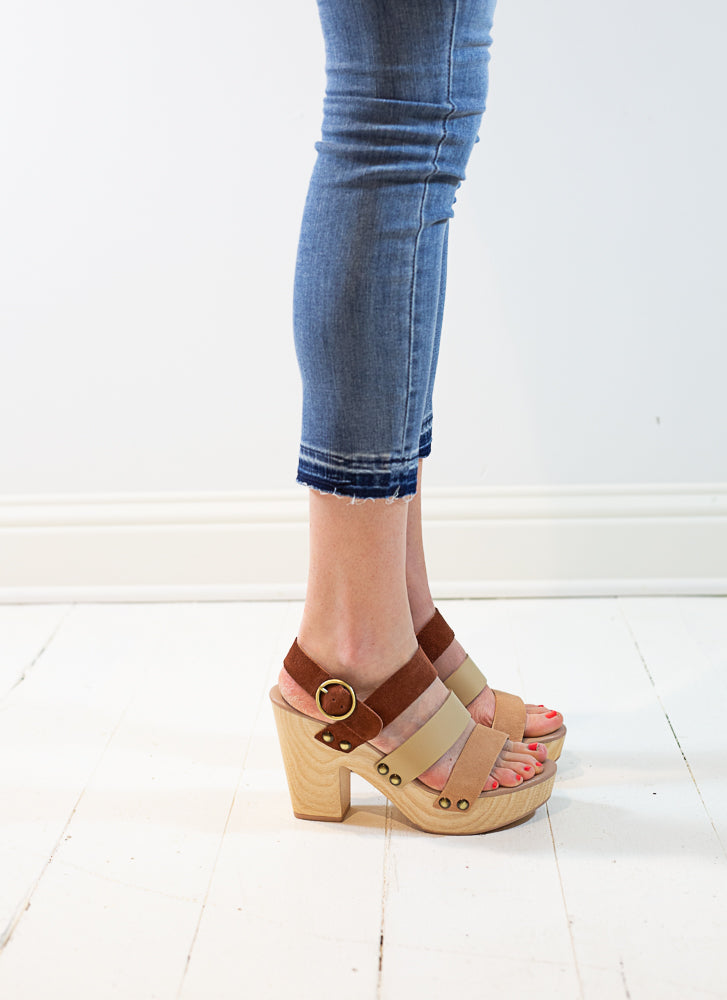 Flower Split Suede Shoes - Willow House Boutique
