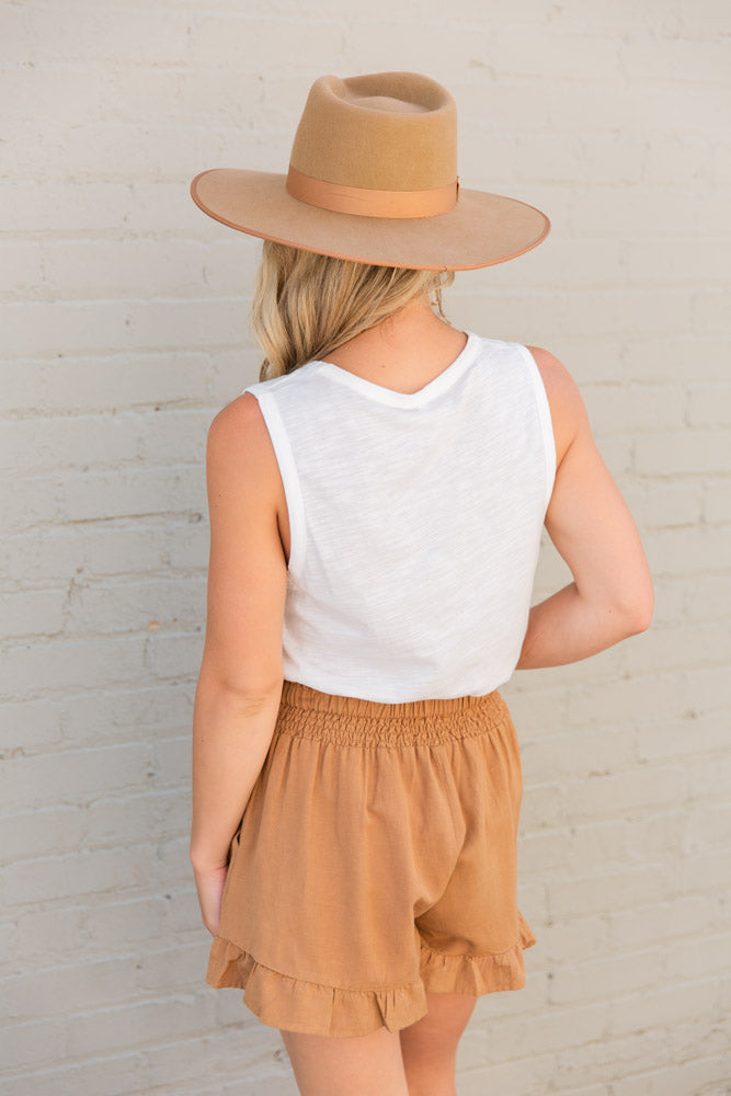Ruffle Linen Shorts - Willow House Boutique