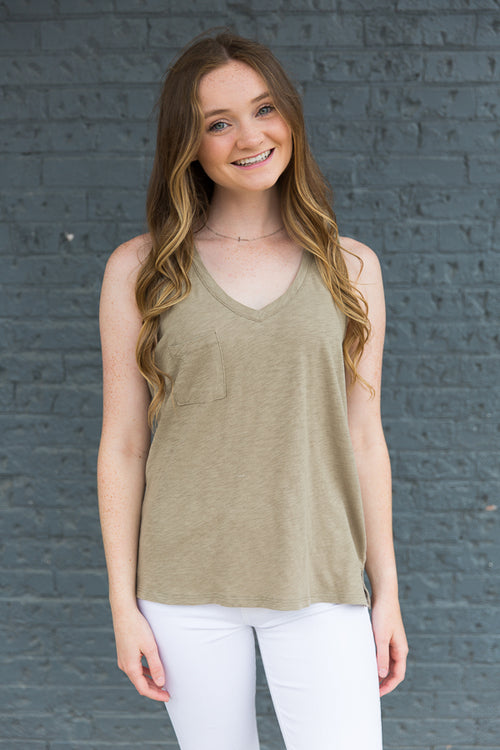 Sunset Slub Tank - Willow House Boutique