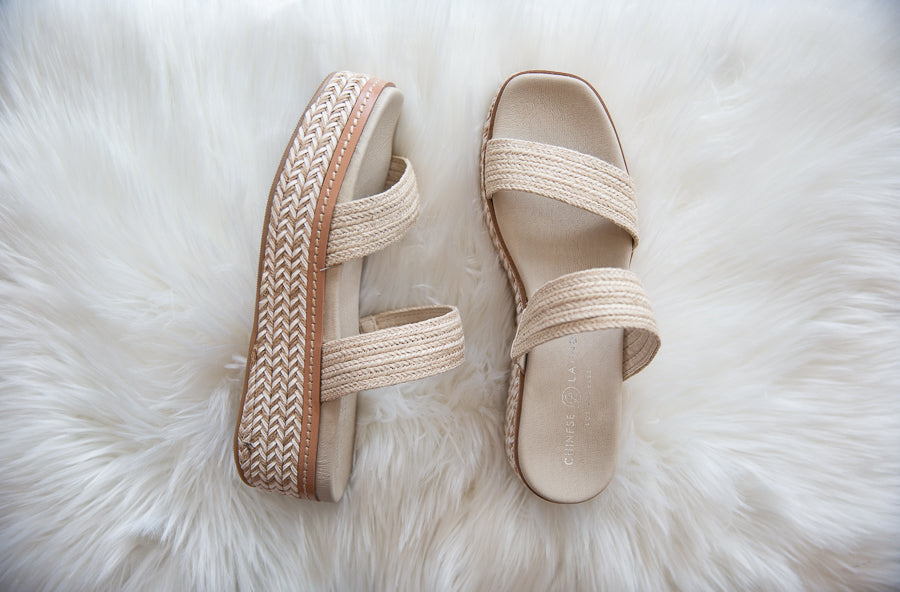 Zion Jute Wedge - Willow House Boutique