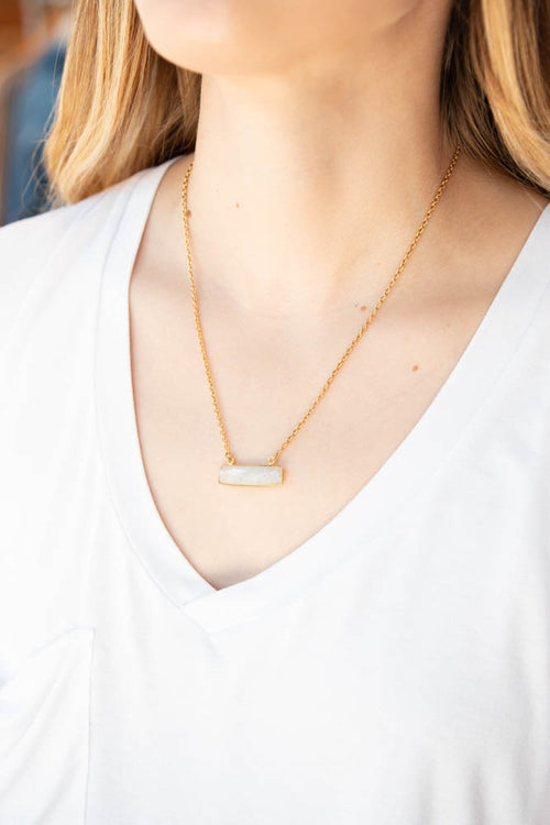 Heather Necklace Moonstone - Willow House Boutique