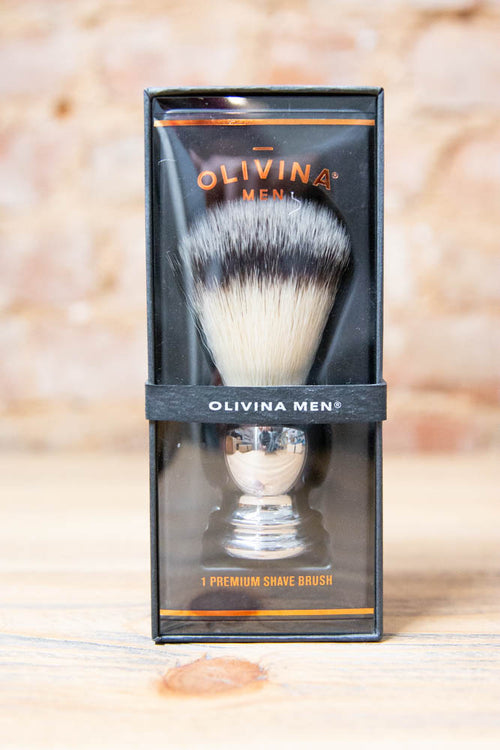 Shave Brush- Chrome - Willow House Boutique