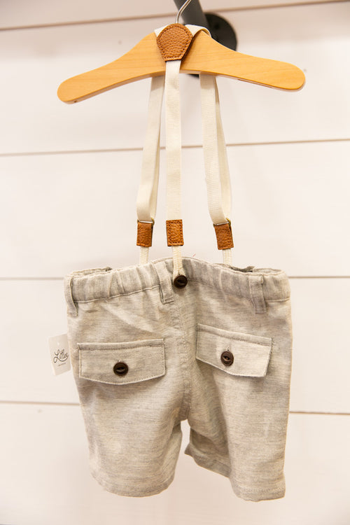 Captain Shorts w/ Suspenders - Willow House Boutique