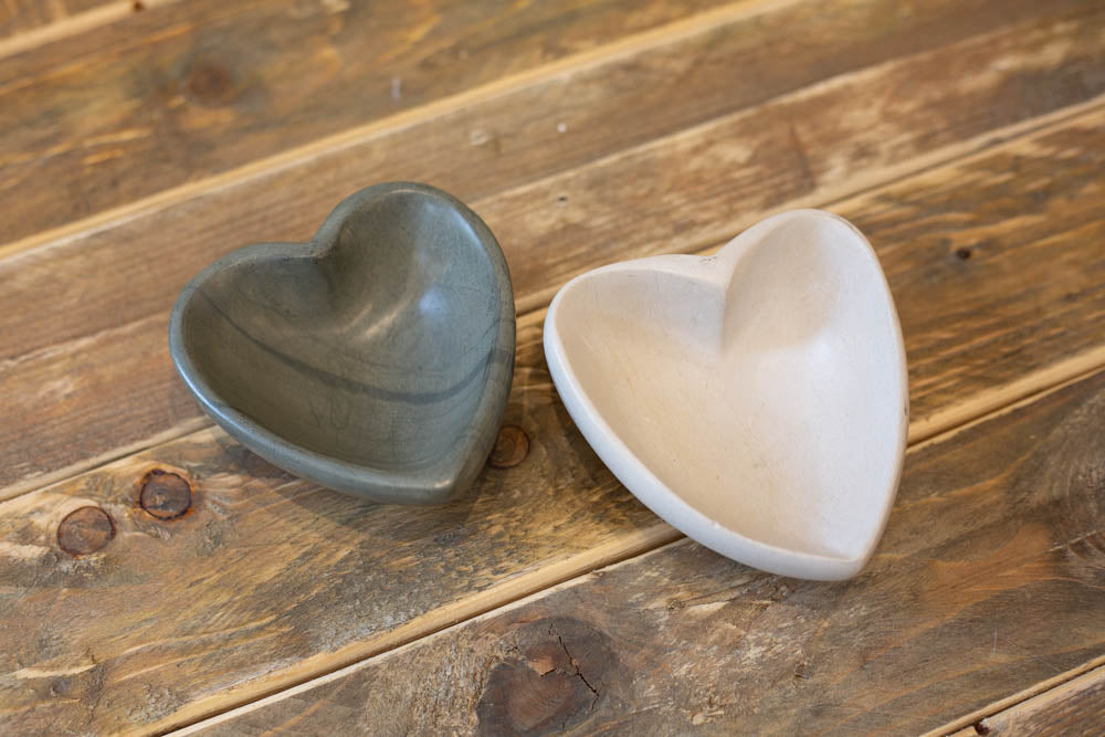 Stone Heart Bowl - Dark Grey - Willow House Boutique