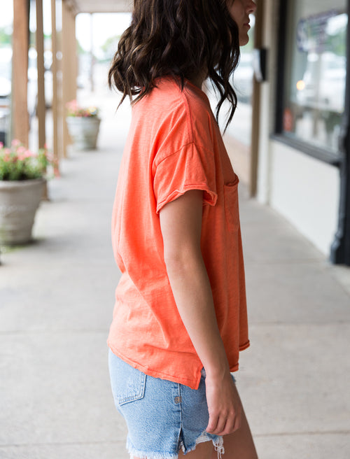 Lina Slub Tee - Willow House Boutique