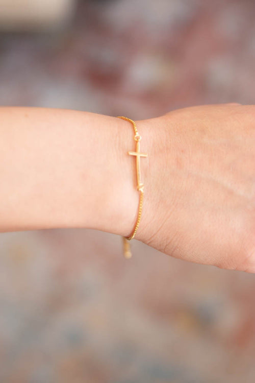 Cross Slider Bracelet - Willow House Boutique
