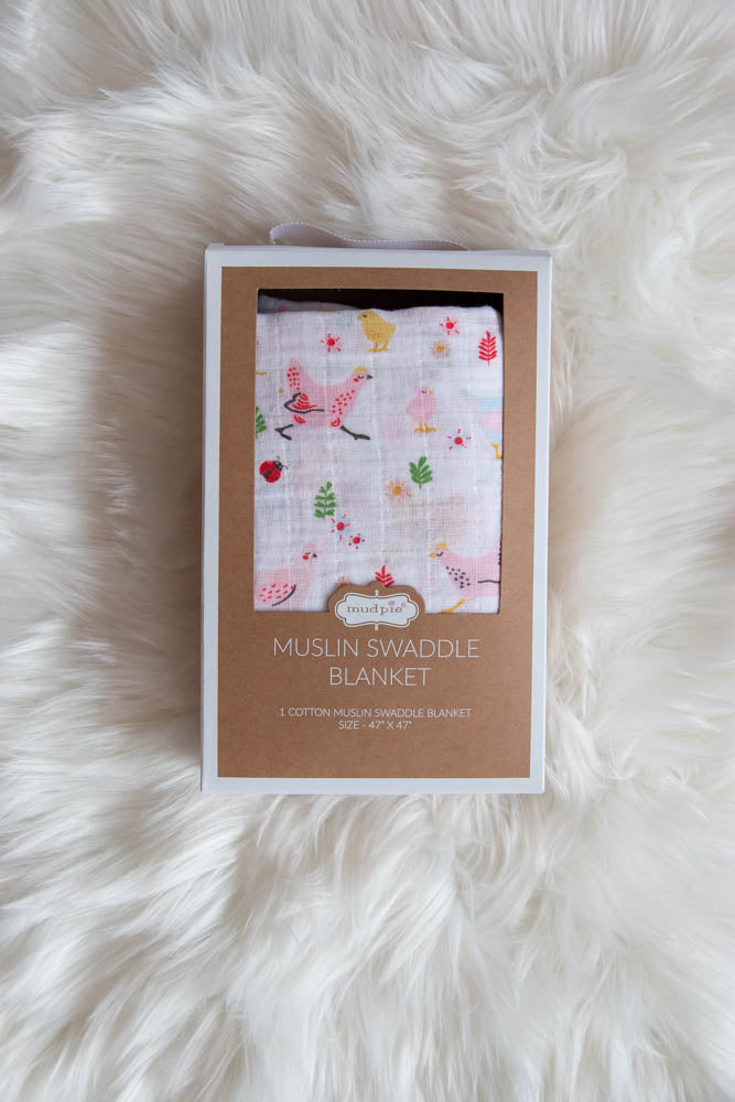 Muslin Swaddle Blanket - Willow House Boutique