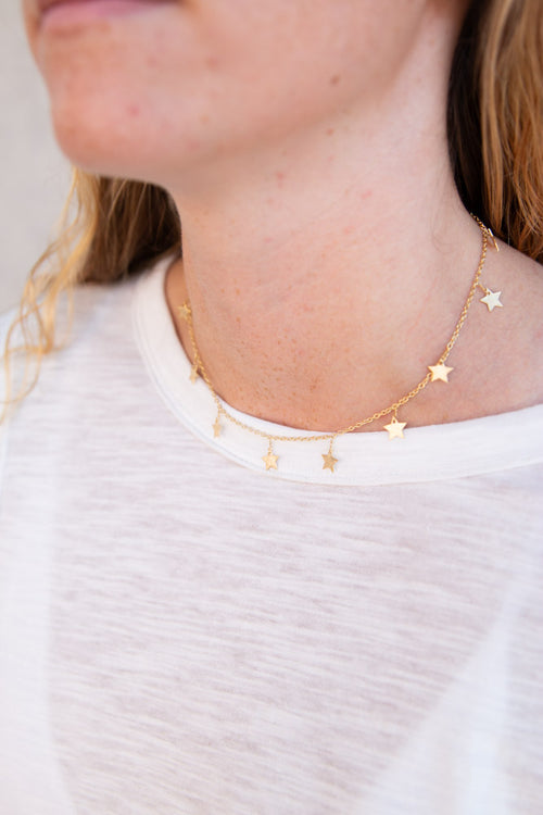 Golden All-Star Choker - Willow House Boutique