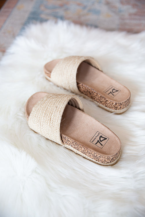Diamonds Jute Sandal - Willow House Boutique