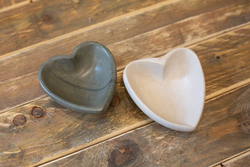 Stone Heart Bowl - Light Grey - Willow House Boutique