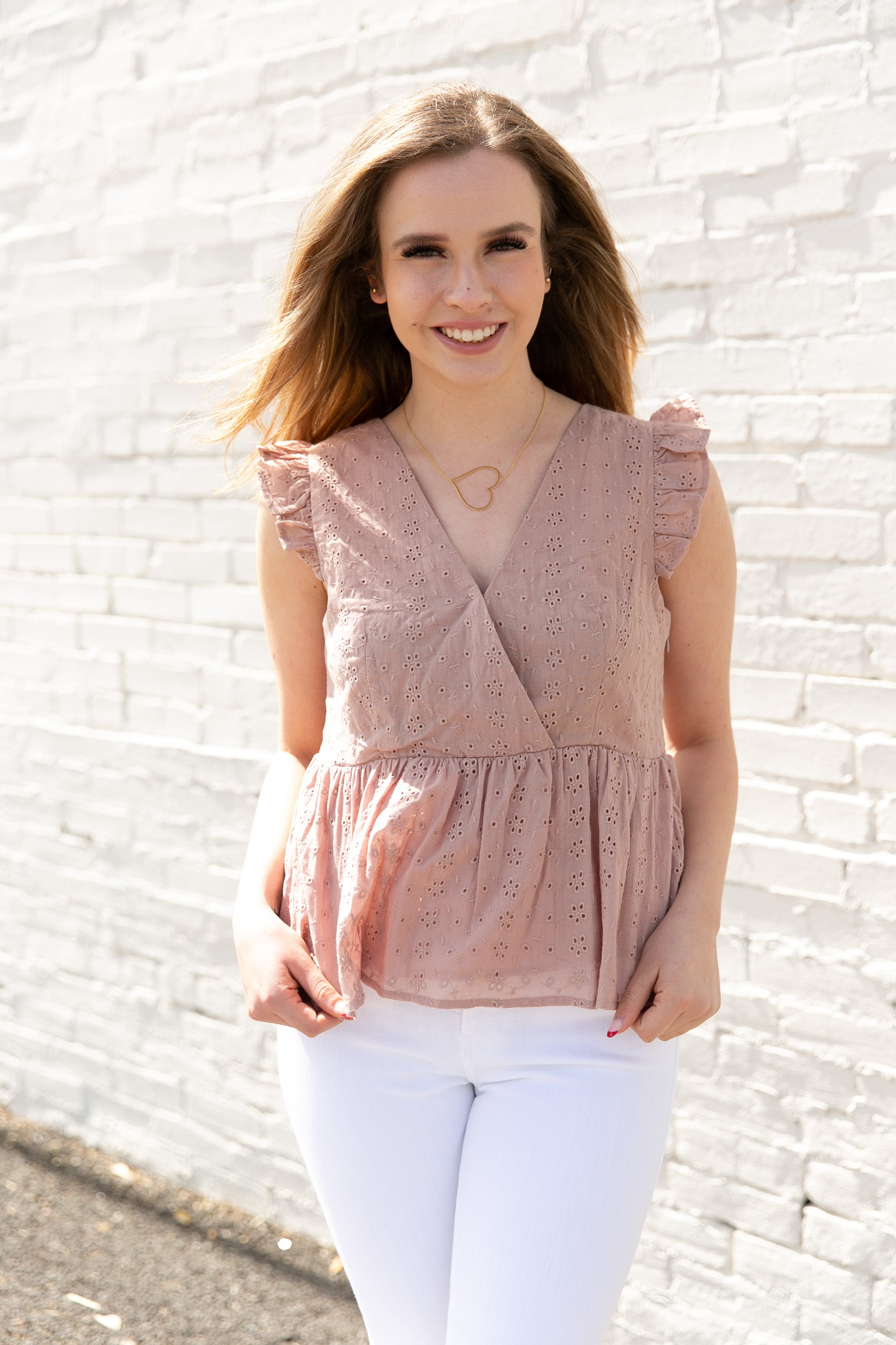 Greer Eyelet Top - Willow House Boutique