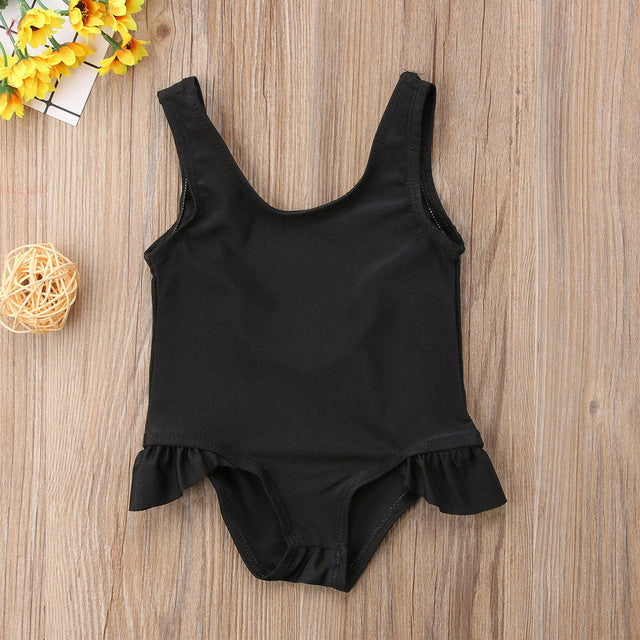 Black Skirted Swimsuit