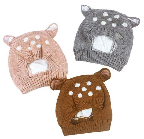 Baby Deer Knit Bonnet