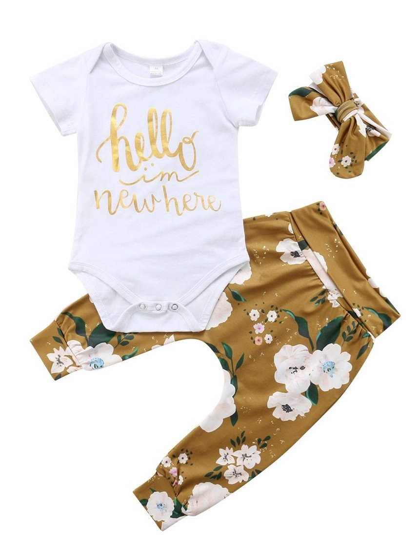 Hello Onesie Set