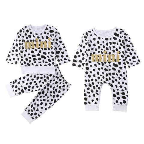 Mini Spots Set or Jumpsuit