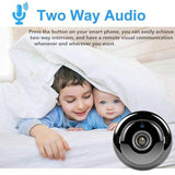 Mini WIFI Camera With Smartphone App and Night Vision Two-way Audio Home Security Camera