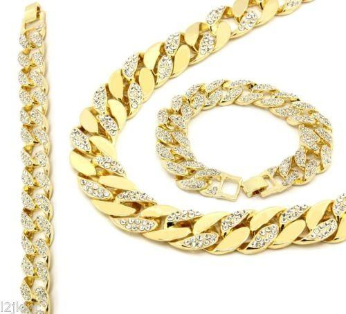 14K Gold Mens Chain Solid Miami Cuban Link 15mm 30