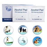 100 PCS ALCOHOL WET WIPE DISPOSABLE DISINFECTION ANTISEPTIC SWAP PAD