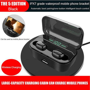Mini TWS Bluetooth 5.0 Headset Stereo Wireless Earbuds Headphones