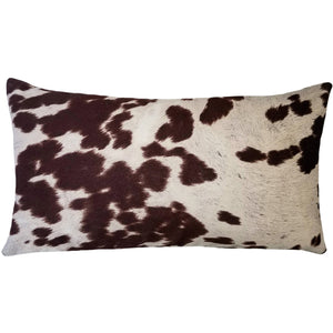 Brown Faux Cowhide Pillow
