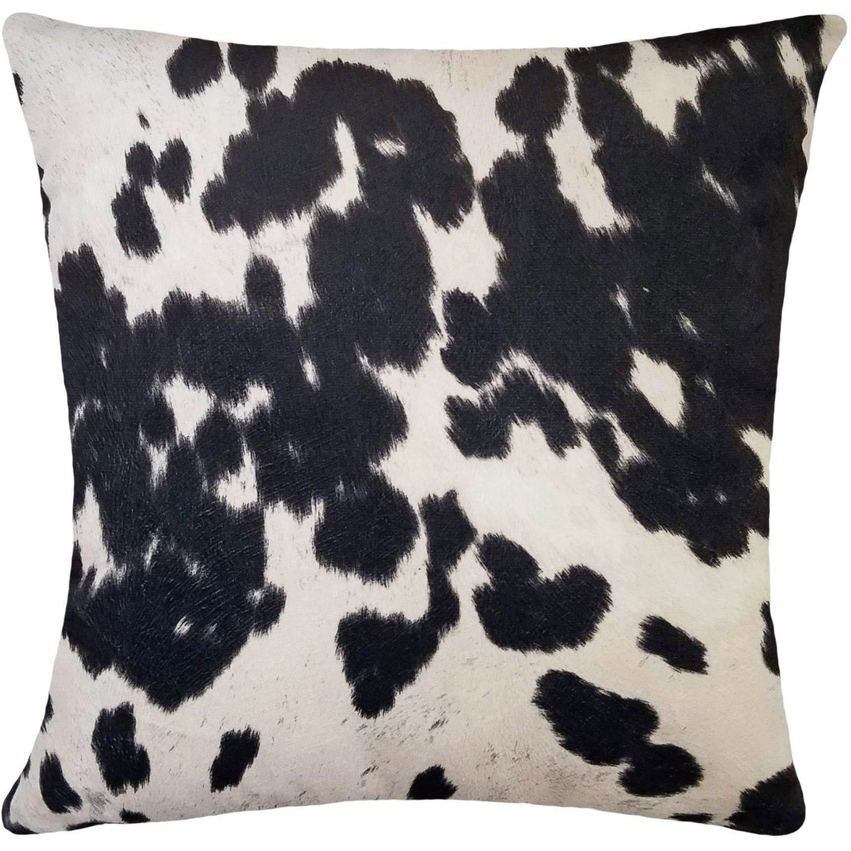 Lux Black Faux Cowhide Pillow