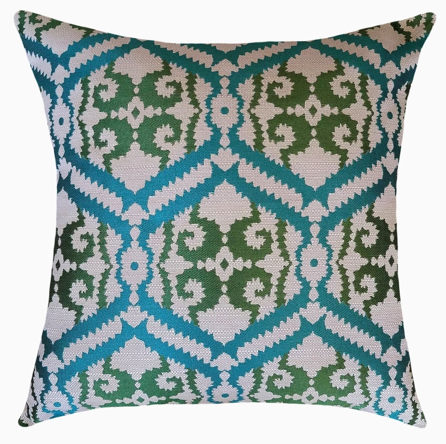 Florence Decorative Green Throw Pillow